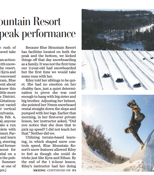 Washington Post | In Pennsylvania, a tubing and snowboarding destination for families